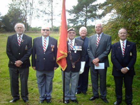 YVRA members with The Regimental Standard 2015
